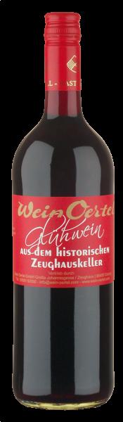 Wein Oertel Roter Glühwein aus dem Zeughauskeller von Castell