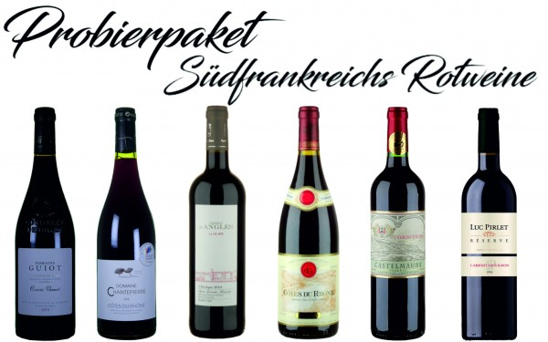 Probierpaket Rotwein aus Südfrankreich