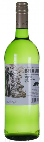 Volkacher Bacchus halbtrocken - Weingut Heinz Braun Fahr