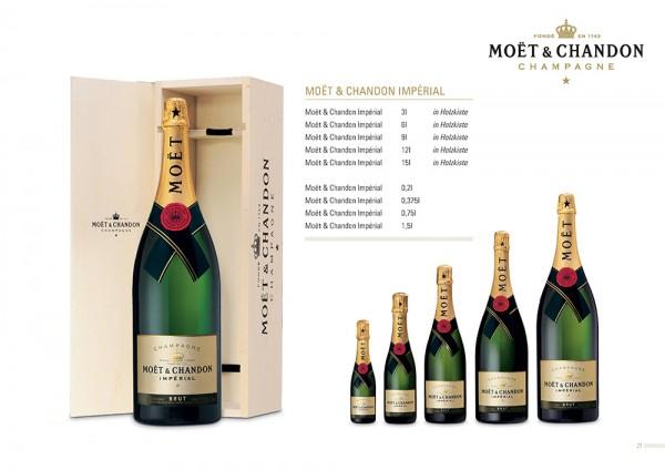 Champagner Moet & Chandon brut Imperial Jeraboam 3 Liter